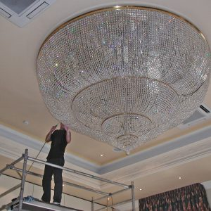 Cleaning Large Chandelier